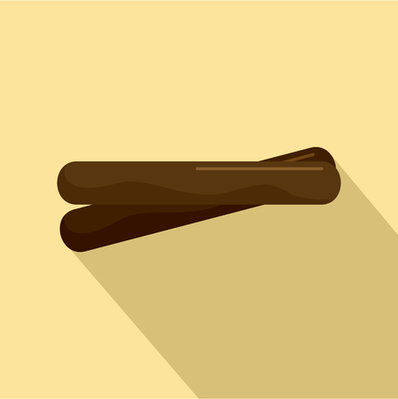 Two cinnamon icon. Flat illustration of two cinnamon vector icon for web design Illustration