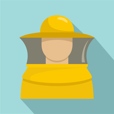 Beekeeper man icon. Flat illustration of beekeeper man vector icon for web design