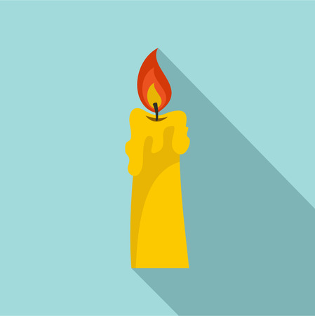 Candle icon. Flat illustration of candle vector icon for web design Illustration