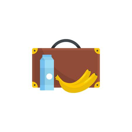 Lunchtime icon. Flat illustration of lunchtime vector icon for web Illustration