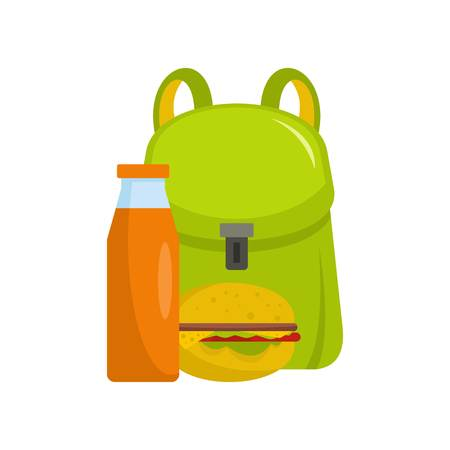 School lunch icon. Flat illustration of school lunch vector icon for web