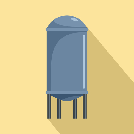 Water tank icon. Flat illustration of water tank vector icon for web design