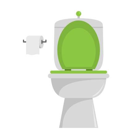 Ceramic toilet icon. Flat illustration of ceramic toilet vector icon for web