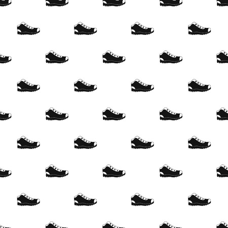 Hiking boots pattern vector seamless repeating for any web design