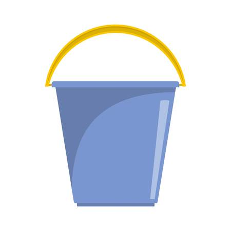 Pail icon. Flat illustration of pail vector icon for web