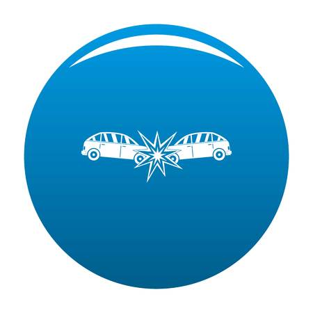 Head collision icon. Simple illustration of head collision vector icon for any design blue Illustration