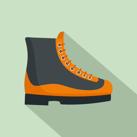 Boots icon. Flat illustration of boots vector icon for web design