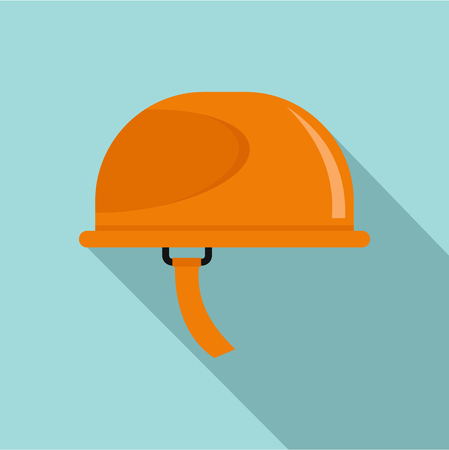 Hiking helmet icon. Flat illustration of hiking helmet vector icon for web design