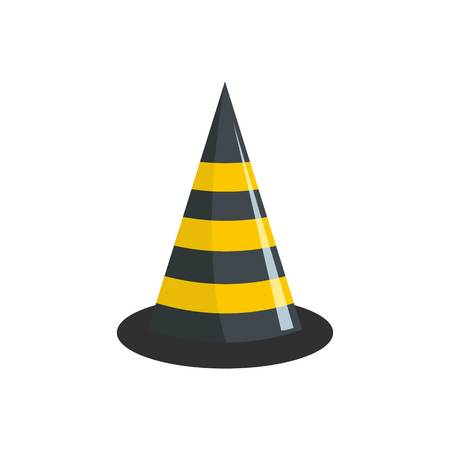Road cone icon. Flat illustration of road cone vector icon for web