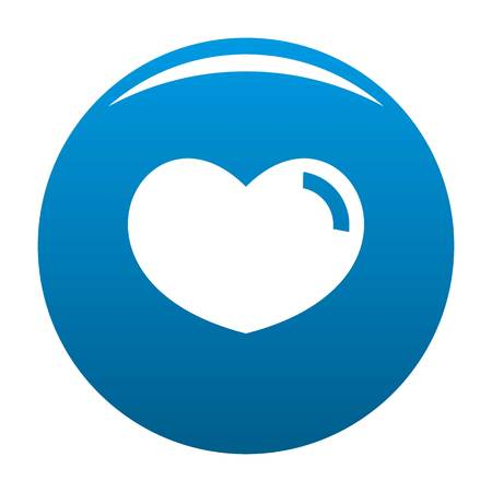 Loving heart icon. Simple illustration of loving heart vector icon for any design blue. Illustration