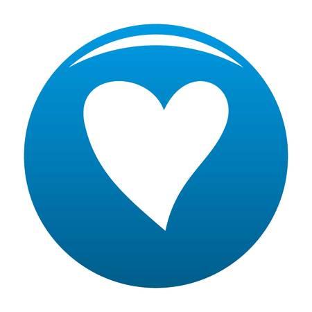 Cruel heart icon. Simple illustration of cruel heart vector icon for any design blue