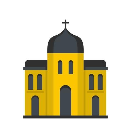 Church architecture icon. Flat illustration of church architecture vector icon for web