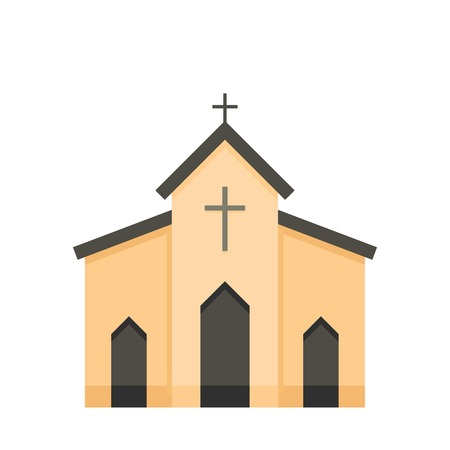 Chapel icon. Flat illustration of chapel vector icon for web Ilustracja