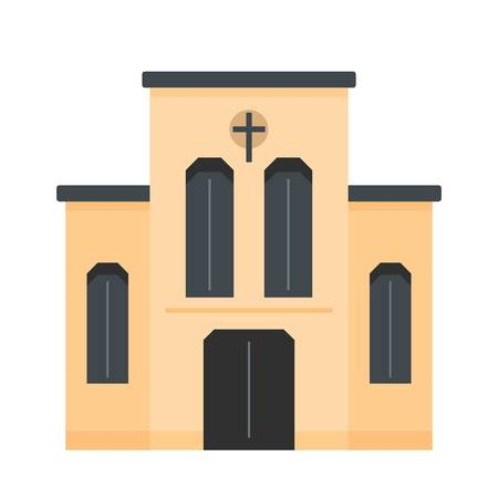 Church with cross icon vector illustration