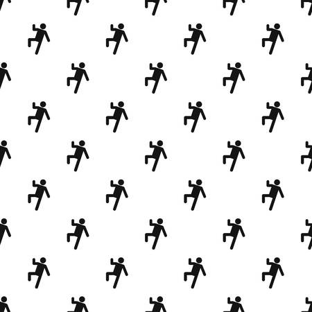Stick figure stickman pattern vector seamless repeating for any web design.
