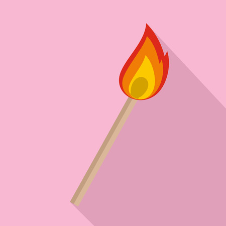 Burning match icon vector illustration