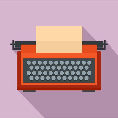 Red typewriter icon