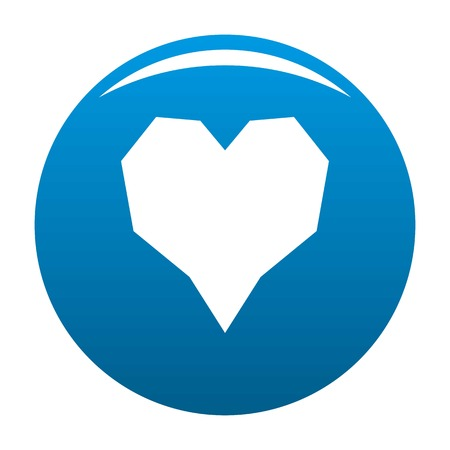 Angular heart icon. Simple illustration of angular heart vector icon for any design blue