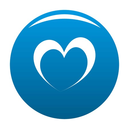 Frantic heart icon. Simple illustration offrantic heart vector icon for any design blue