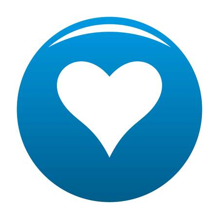 Affectionate heart icon. Simple illustration of affectionate heart vector icon for any design blue