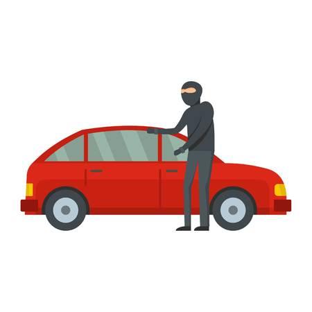 Hijacker icon. Flat illustration of hijacker vector icon for web Illustration