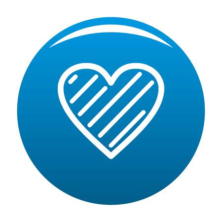 Simple heart icon. Simple illustration of simple heart vector icon for any design blue Illustration
