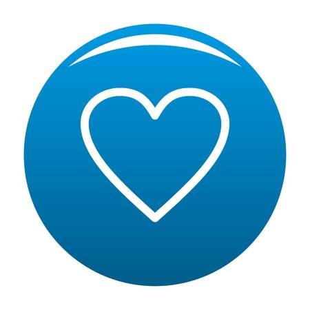 Ardent heart icon. Simple illustration of ardent heart vector icon for any design blue