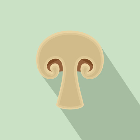 Half of mushroom icon. Flat illustration of half of mushroom vector icon for web design