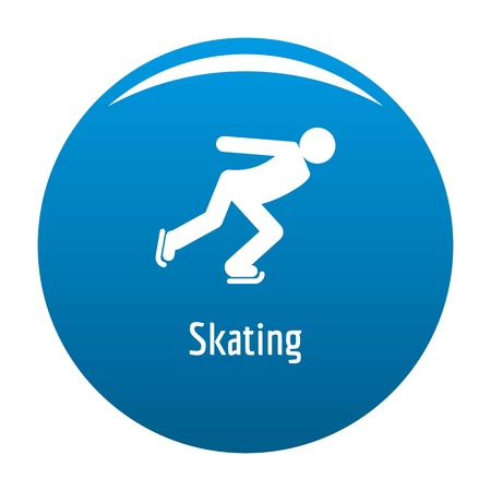 Skating icon. Simple illustration of skating vector icon for any design blue