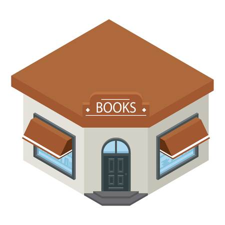 Books shop building icon.