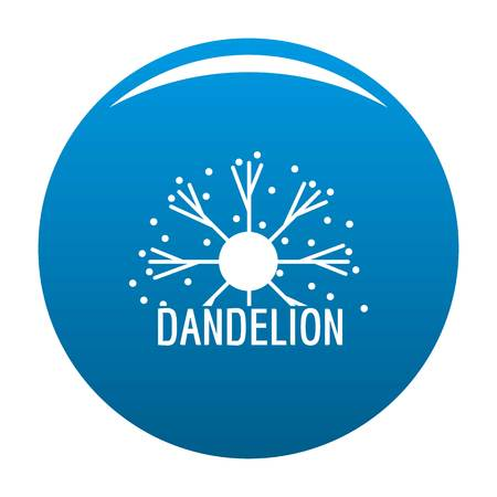 Dandelion icon. Simple illustration of dandelion vector icon for any design blue