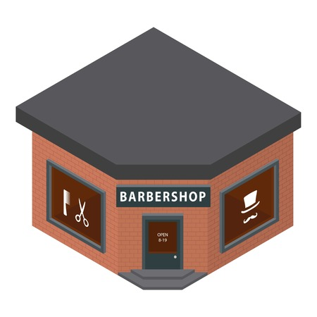 Barbershop icon. Isometric of barbershop vector icon for web design isolated on white background Illustration