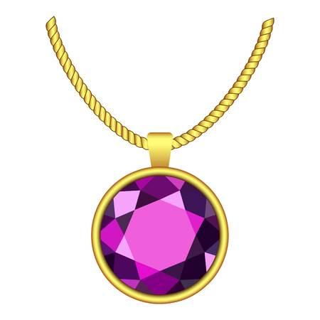 Amethyst necklace icon.