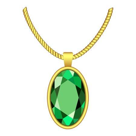Emerald necklace icon. Vettoriali