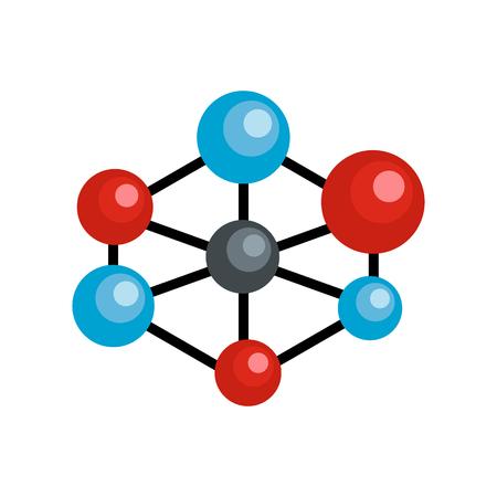 Molecular lattice icon. Flat illustration of molecular lattice vector icon for web