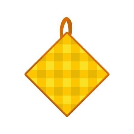 Potholder icon. Flat illustration of potholder vector icon for web