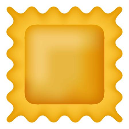 Quadretti pasta icon. Realistic illustration of quadretti pasta vector icon for web design isolated on white background