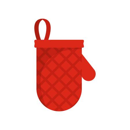 Ikona rękawiczki kuchenne. Płaskie ilustracja ikony wektor rękawiczki kuchenne dla sieci web