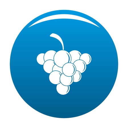 Mellow grape icon. Simple illustration of mellow grape vector icon for any design blue