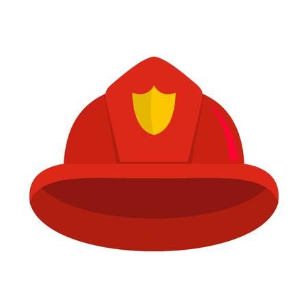 Helmet icon. Flat illustration of helmet vector icon for web Illustration
