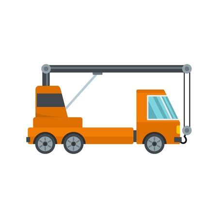 Car crane icon. Flat illustration of car crane vector icon for web