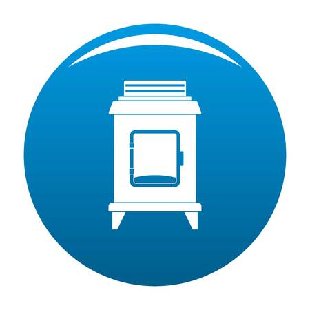 Old oven icon. Simple illustration of old oven vector icon for any design blue Illustration
