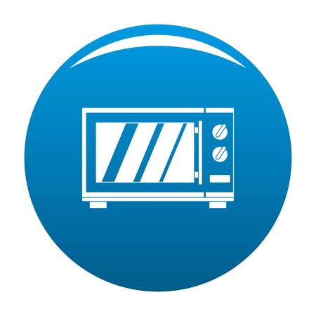 Kitchen microwave oven icon. Simple illustration of kitchen microwave oven vector icon for any design blue