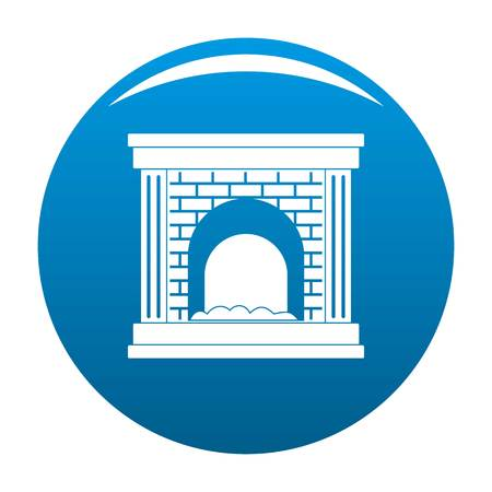 Fireplace for fire icon. Simple illustration of fireplace for fire vector icon for any design blue Stock Vector - 101083822