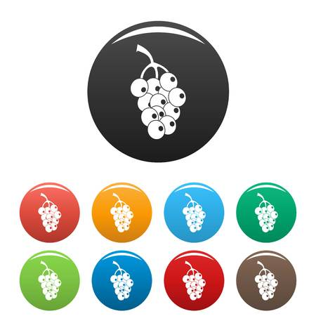 Ripe grape icon. Simple illustration of ripe grape vector icons set color isolated on white