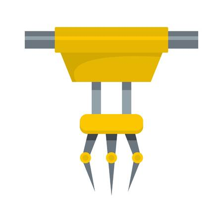 Robot arm icon. Flat illustration of robot arm vector icon for web