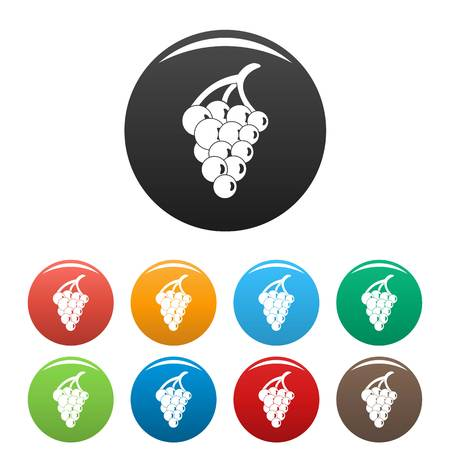 Grape for restaurant icon. Simple illustration of grape for restaurant vector icons set color isolated on white