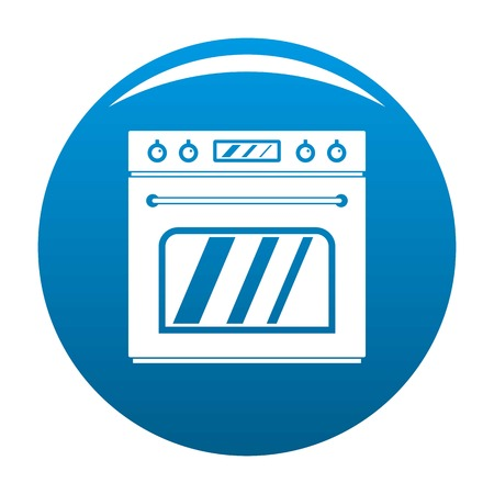 Big gas oven icon. Simple illustration of big gas oven vector icon for any design blue