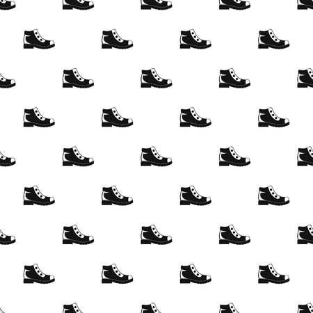botas de senderismo patrón de vector sin fisuras para cualquier diseño web