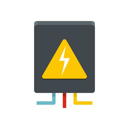 Voltage equipment icon. Flat illustration of voltage equipment vector icon for web